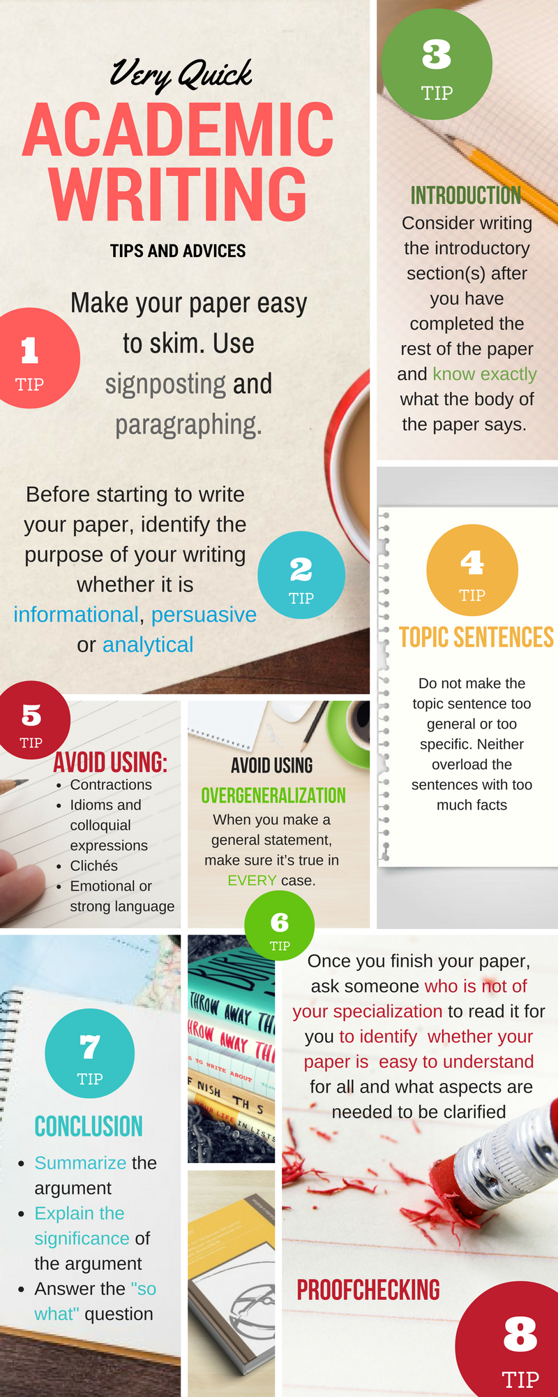 Very Quick Academic Writing Tips and Advices