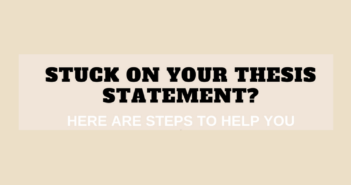 Stuck on Your Thesis Statement