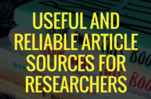 Useful and Reliable Article Sources for Researchers.