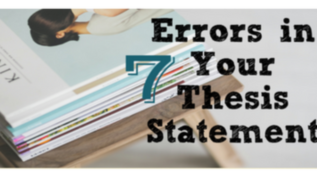 Error in composing a thesis statement horrid homework