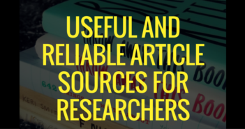 Useful and Reliable Article Sources for Researchers