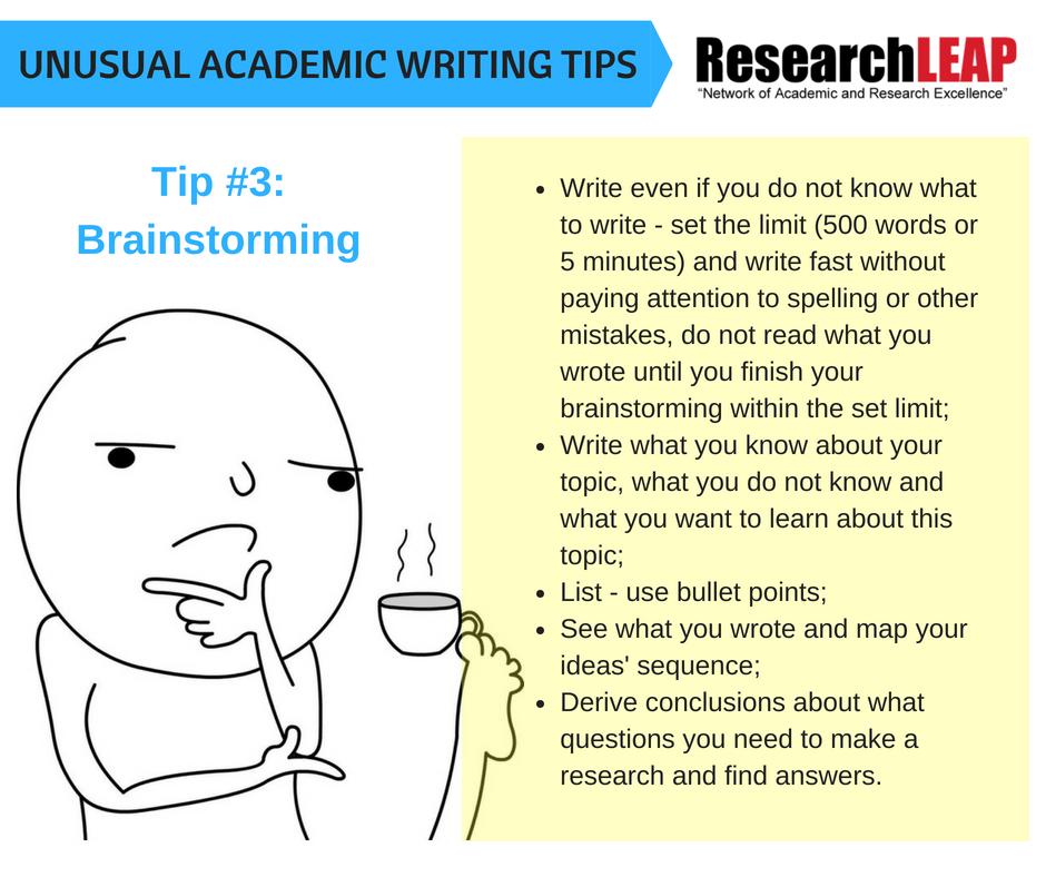 Tip #3- Brainstorming